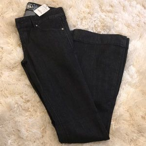 Black jeans from express with a flare leg size 0